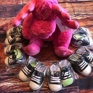 Baby Toddler Black Lace-up Hightop Prewalker Shoes